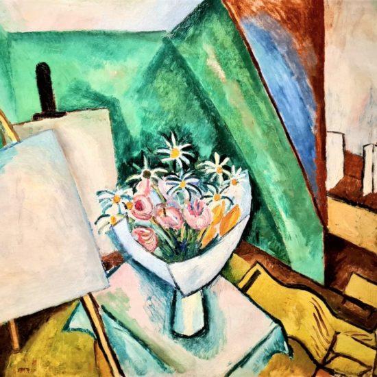 Le bouquet dans l'atelier de la rue Séguier, 1909 Huile sur toile