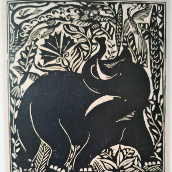 L'éléphant Le bestiaire ou Cortège d'Orphée d'Apollinaire, 1910 Xylographie sur papier