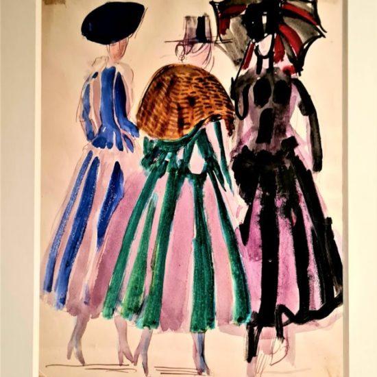 Robes de la maison Poiret, 1920 Gouache sur papier