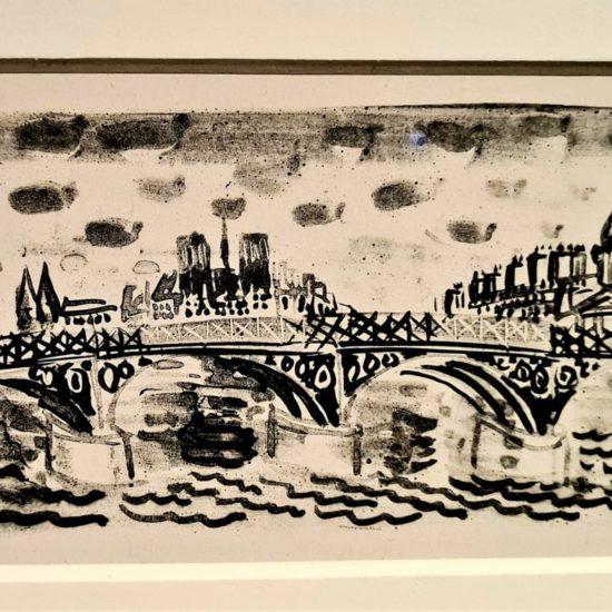 Le pont des Arts, Illustration pour Le Poète assassiné de G. Apollinaire, 1926 Lithographie sur papier