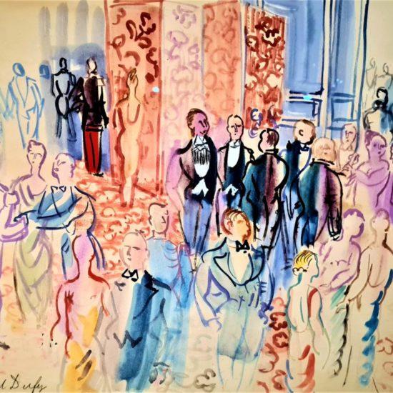La réception, 1931-1935 Aquarelle sur gouache sur papier vélin d'Arches