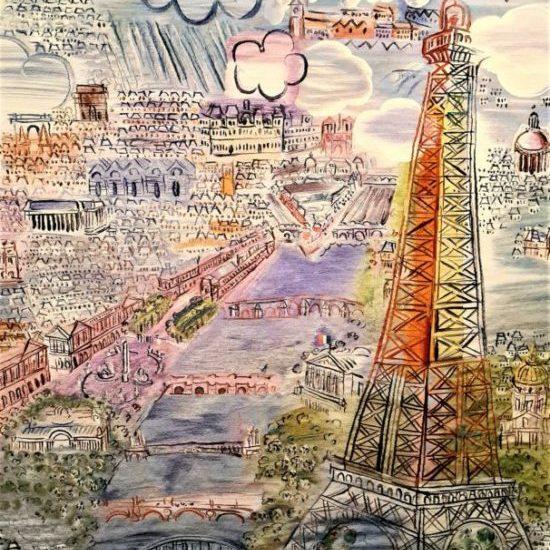 Paris, 1937 Tapisserie, laine et soie, Aubusson