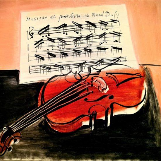 Le violon rouge, 1948 Huile sur toile